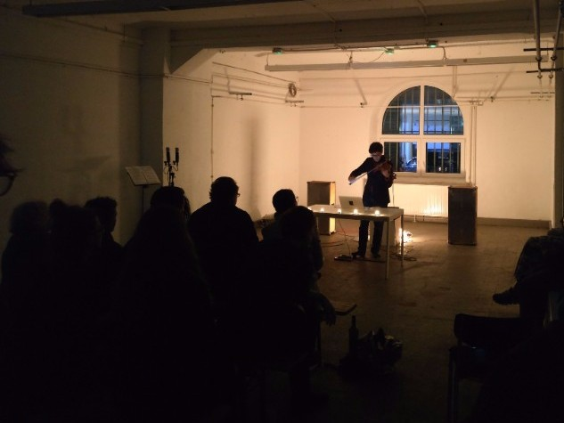 Performing solo in Frankfurt last month at ATERLIERFRANKFURT